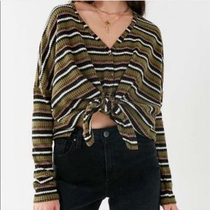 Out From Under Jojo Thermal Button Up Top Cardigan
